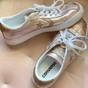 Rose gold metallic converse